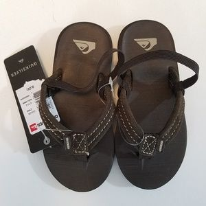 Quiksilver Carver Suede Toddler Sandals Size 9(26)
